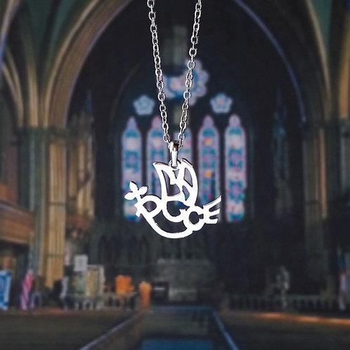 PEACE in English pendant