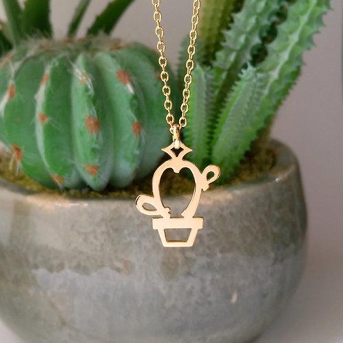 CACTUS in Arabic pendant