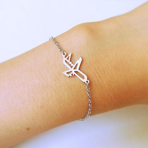 AIRPLANE in Arabic bracelet