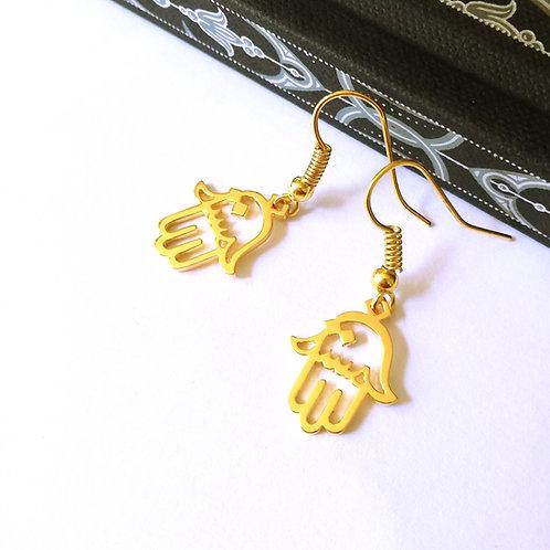HAMSA in Arabic earring