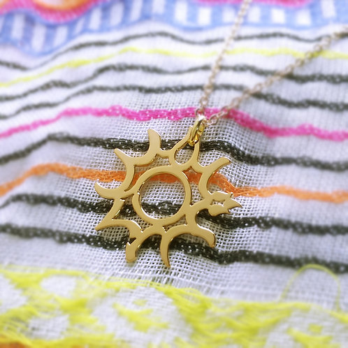 SUN in Arabic pendant