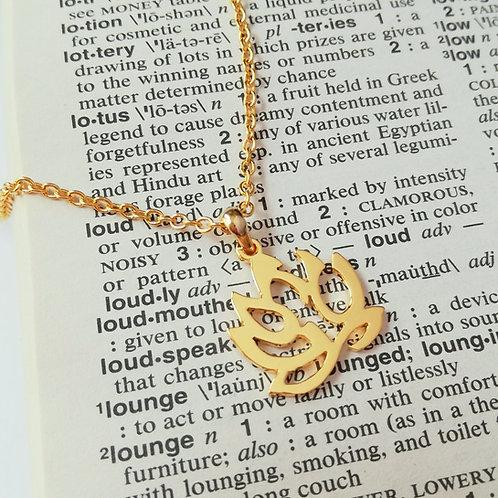 LOTUS in English pendant