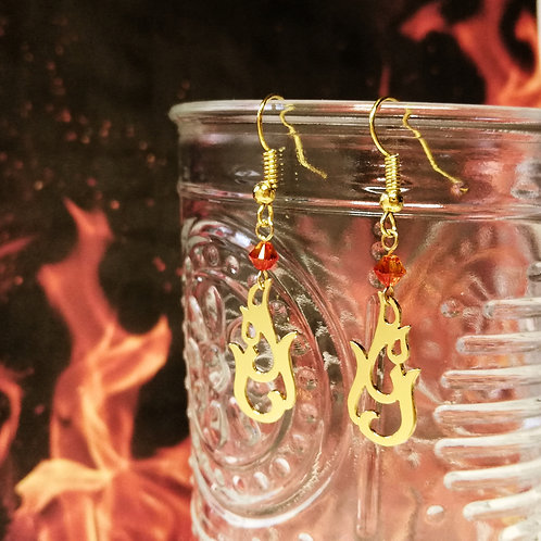 FIRE in Arabic earring