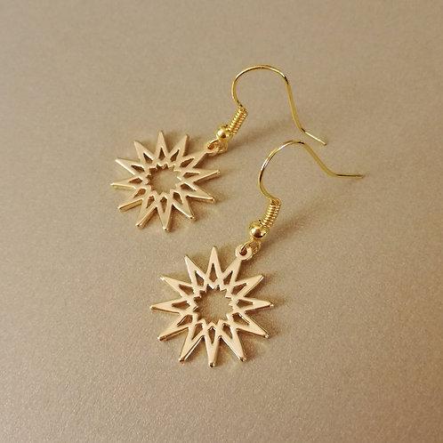 Islamic geometric pattern earring