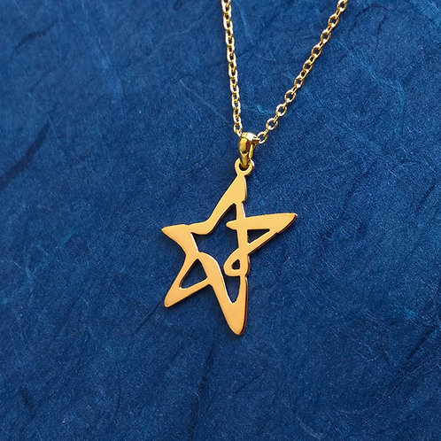 STAR in Hiragana pendant