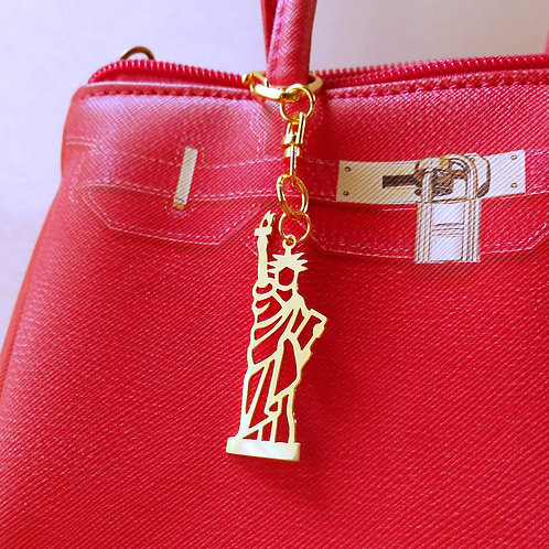 Statue of Liberty bag charm