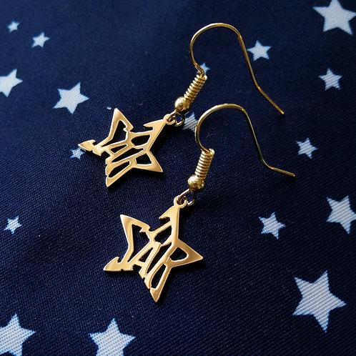 STAR in English earring (symmetry)