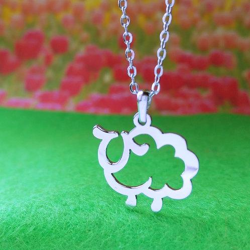 SHEEP in Hiragana pendant