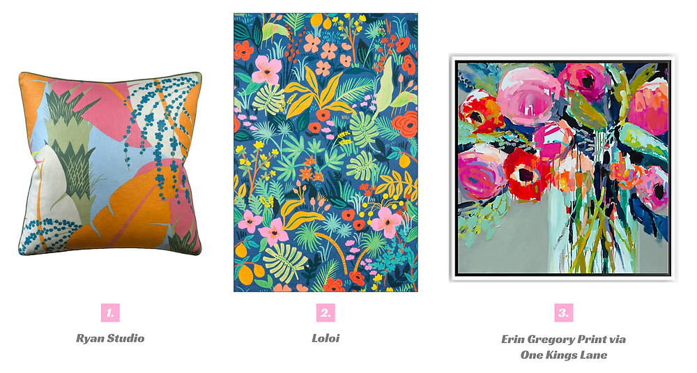 Fun floral accessories to incorporate in any home