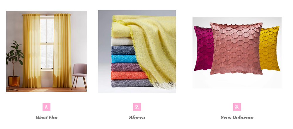 Ways to implement sheer into your home through drapery, blankets, and pillows