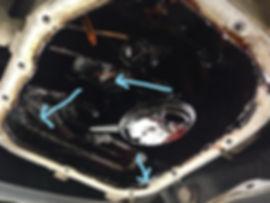 Picture C, Oil sludge build up
