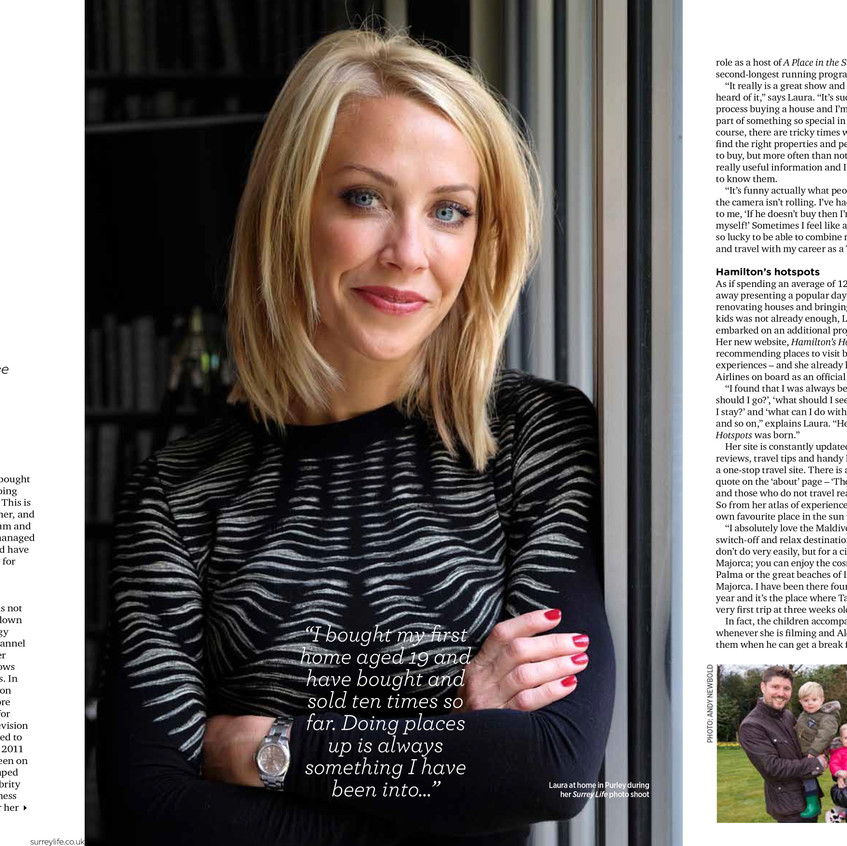 I am now writing too - this is one of several recent interviews undertaken for Surrey Life Magazine