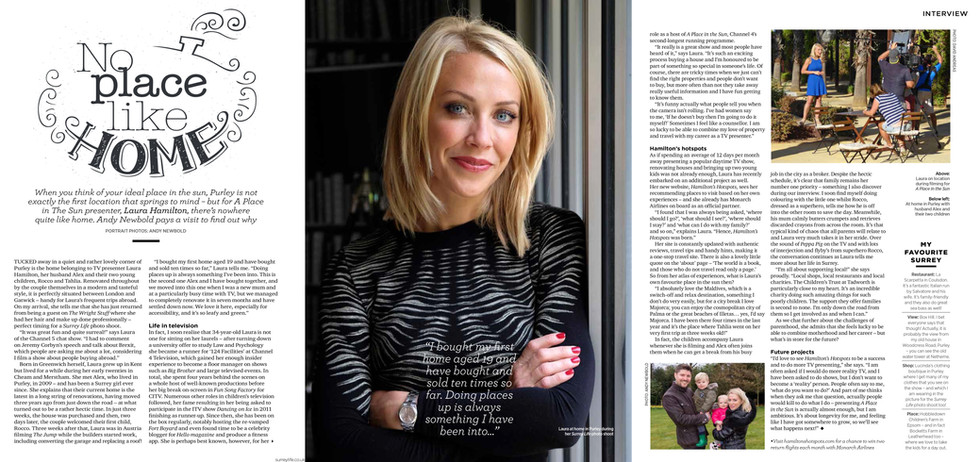 Surrey Life - Full interview and photos with Laura Hamilton