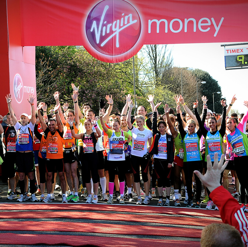 I covered several Marathons for the Children's Trust Charity including the year they were the main charity - one of the highlights was standing next to Richard Branson on the gantry at the finish line taking pics of the runners as he waved them in.