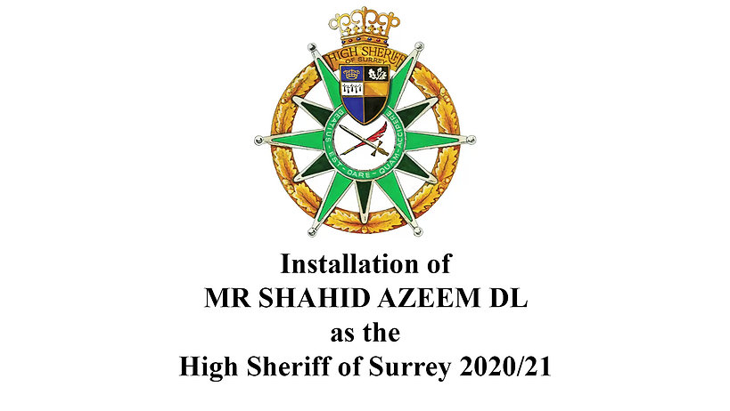 High Sheriff of Surrey Installation 2020