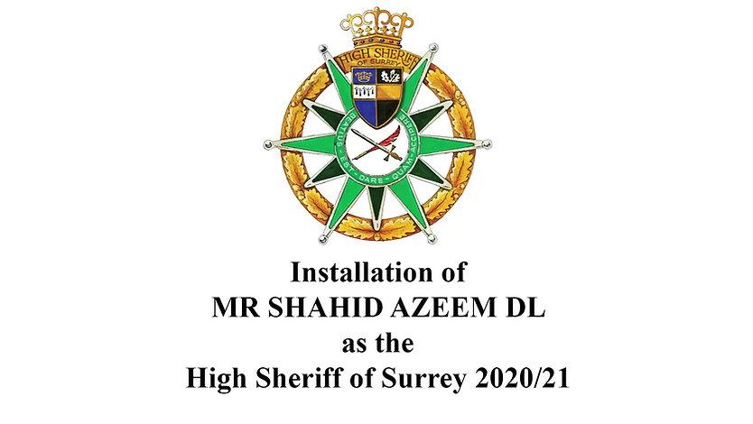 High Sheriff of Surrey Installation 2020
