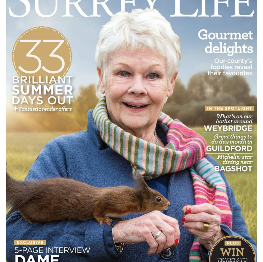 My favourite Magazine cover ever - I had the pleasure of spending an afternoon with the lovely Dame Judi along with the editor of SL and the result was a big photo feature and a great cover shot!