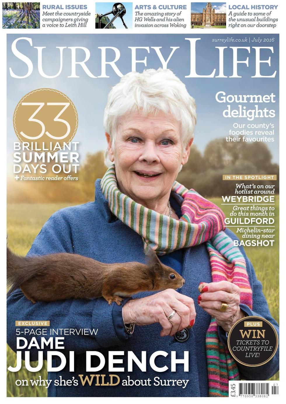 Surrey Life - Judi Dench Cover 2016