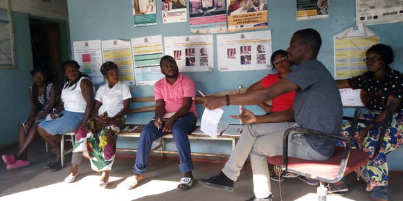 Health centre meeting.