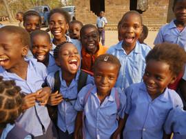 Smiling faces are a familiar site in Zambia.