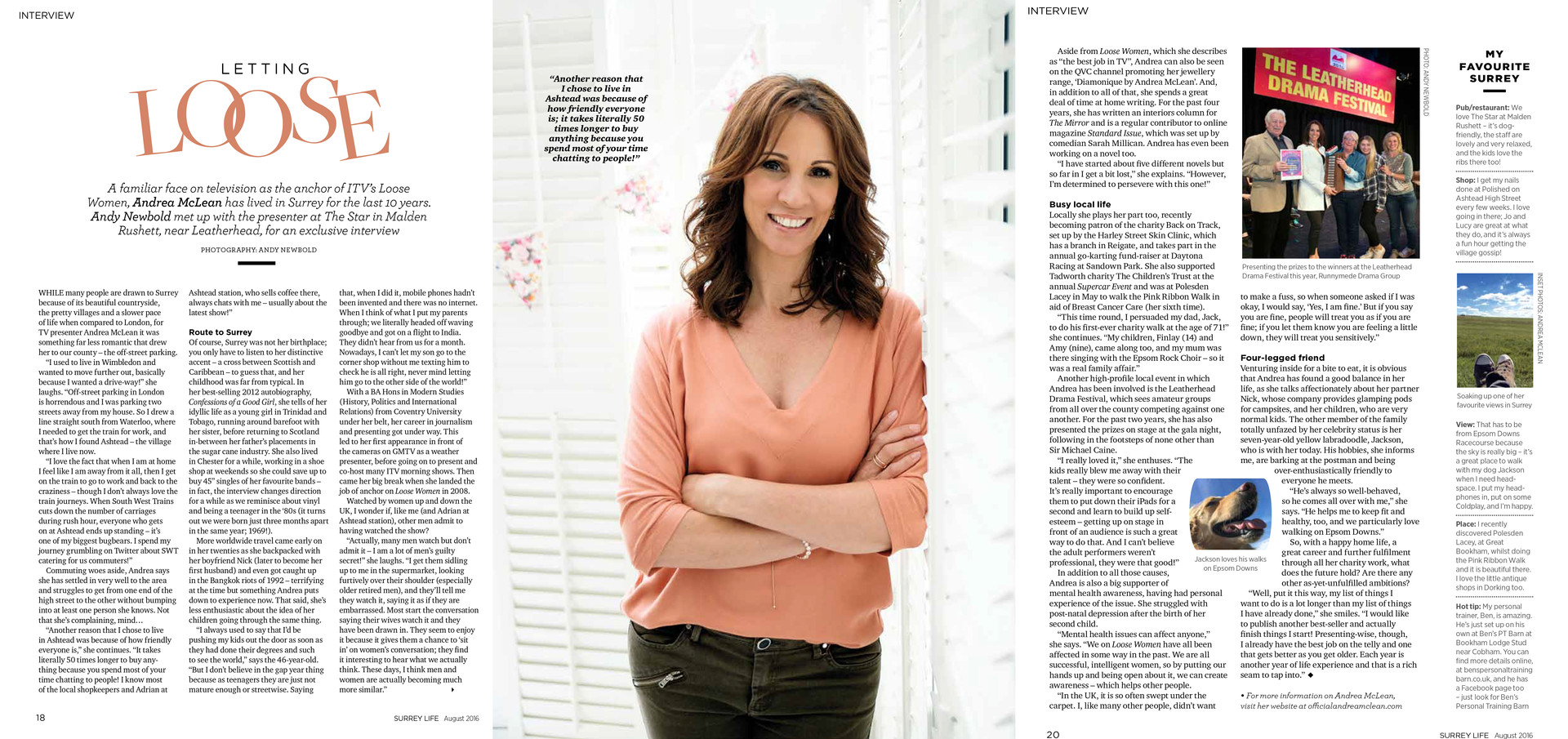 Surrey Life - Interview and Photo feature with Andrea McLean