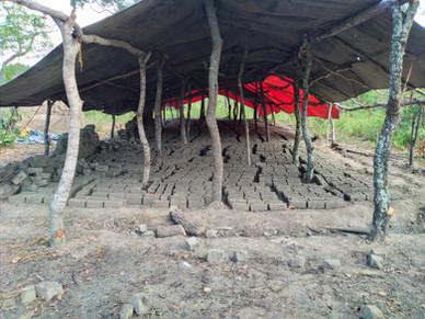 Chibombo build bricks.