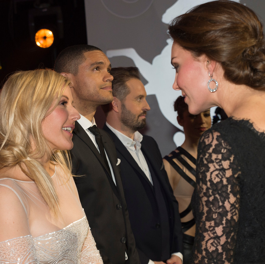 The Duke and Duchess of Cambridge - here The Duchess is meeting Ellie Goulding