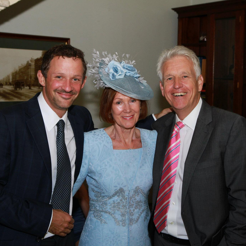 "I have had the pleasure of working with BBC & ITN correspondent Nicholas Owen for many years - he and I did many interview features for Surrey Life together, and I had the honour of taking the cover photo for his Autobiography ""Days like this"" He is one of the most genuine people on the planet and a very dear friend. (this pic of me with Nick and Brenda was taken at a family wedding)"