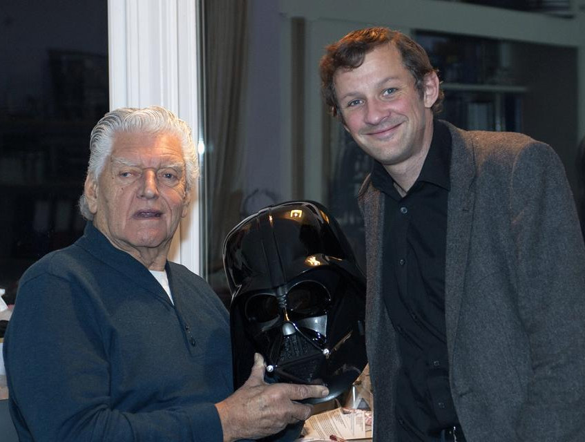 This one is a little on the dark side but a proud moment posing with the helmet alongside Dave Prowse himself