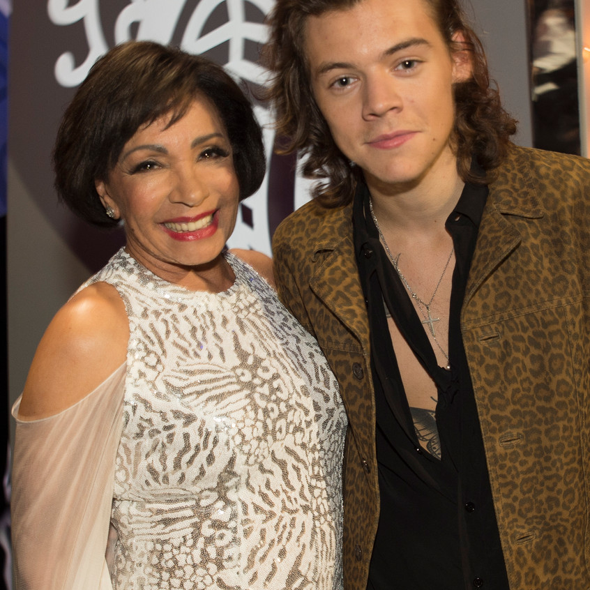 So Harry Styles of 1D comes up to me and asks if I can take a picture of him with Shirley Bassey - that doesn't happen every day - I had to take one with my Nikon too though!