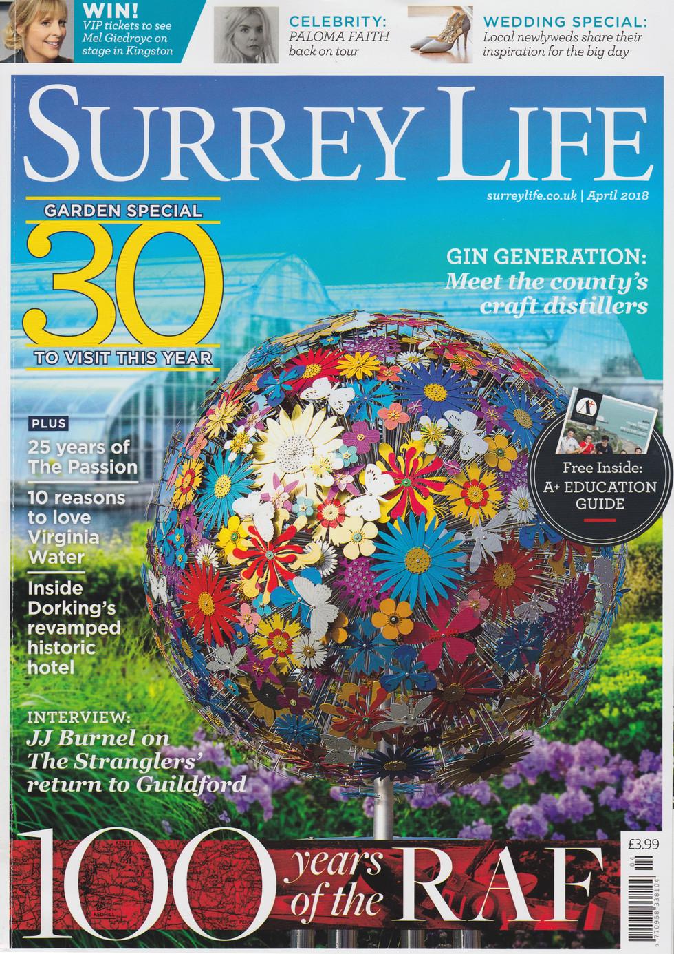 Surrey Life Cover April 2018