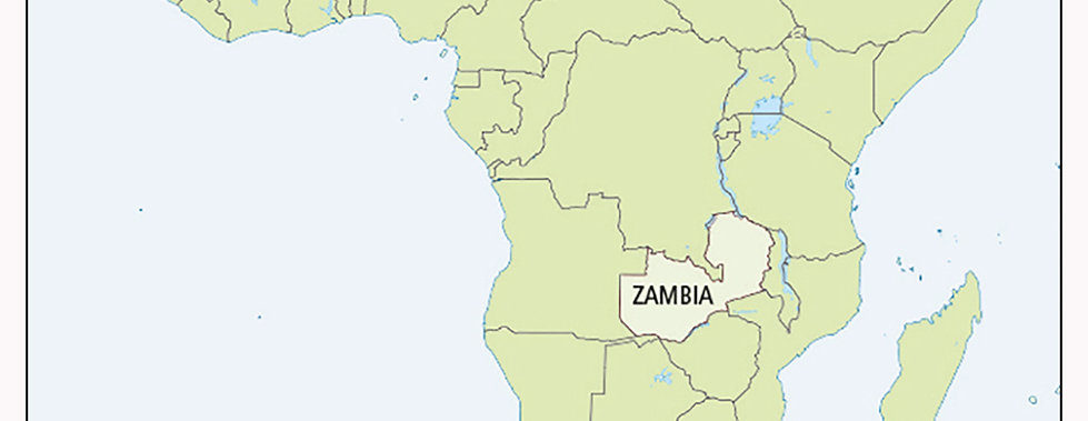 Zambia's position in Africa