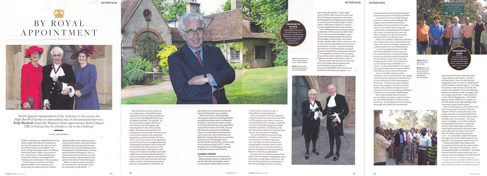 Surrey Life - Interview and pics with the High Sheriff of Surrey