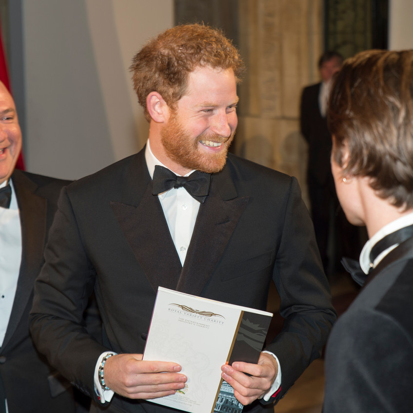 Prince Harry was the Royal in the box at the 2015 RVP and had a ribbing from host Jack Whitehall but took it all with good grace!