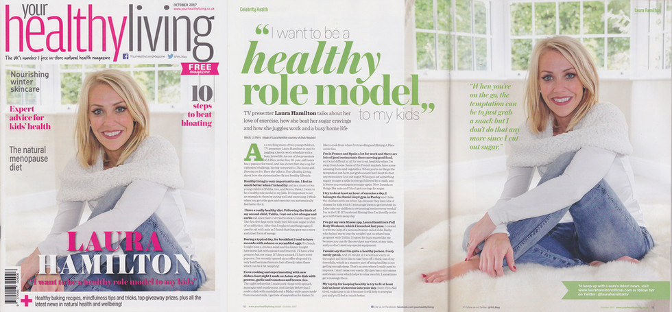 Photo Feature - Healthy Living Magazing with Laura Hamilton