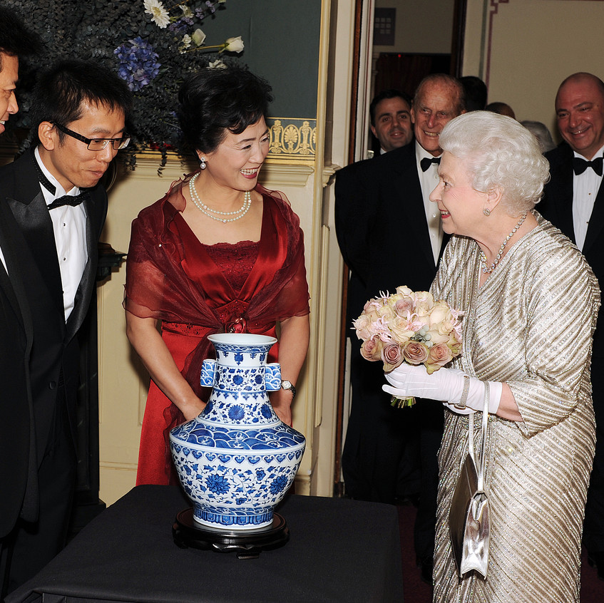 During the 2012 Royal Variety Performance I was asked to take a private photograph of HM the Queen being presented with a gift by the Governor of Beijing