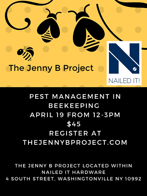 Beekeeping - Pest Management April 19th 12-3pm