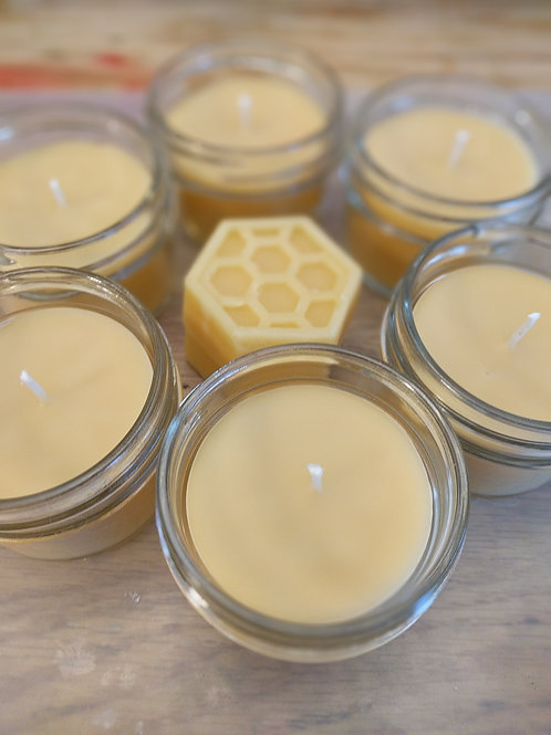 Beez' Bulb 4 oz Pure Beeswax Candle
