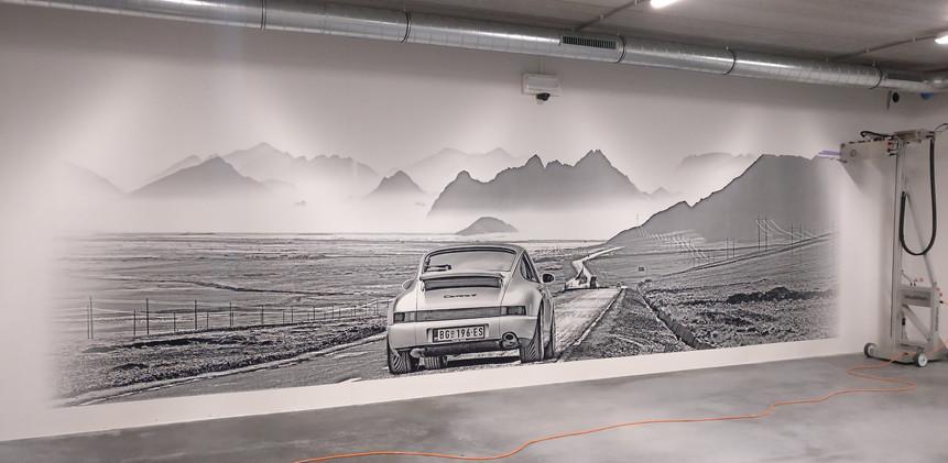 muurprint Porsche 911