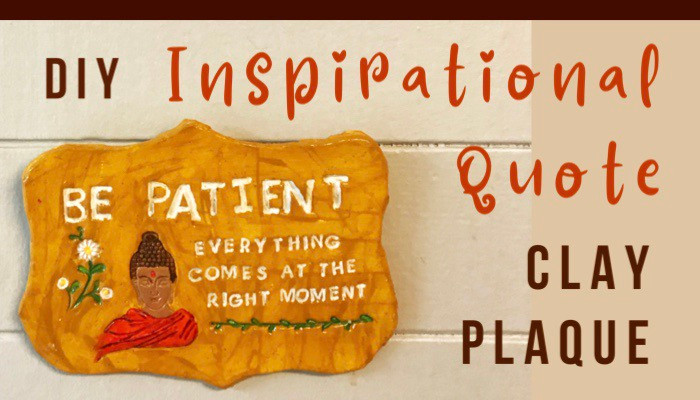doy inspirational quote clay plaque