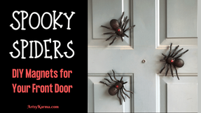 Make Your Own Spooky Spider Magnets for Your Front Door