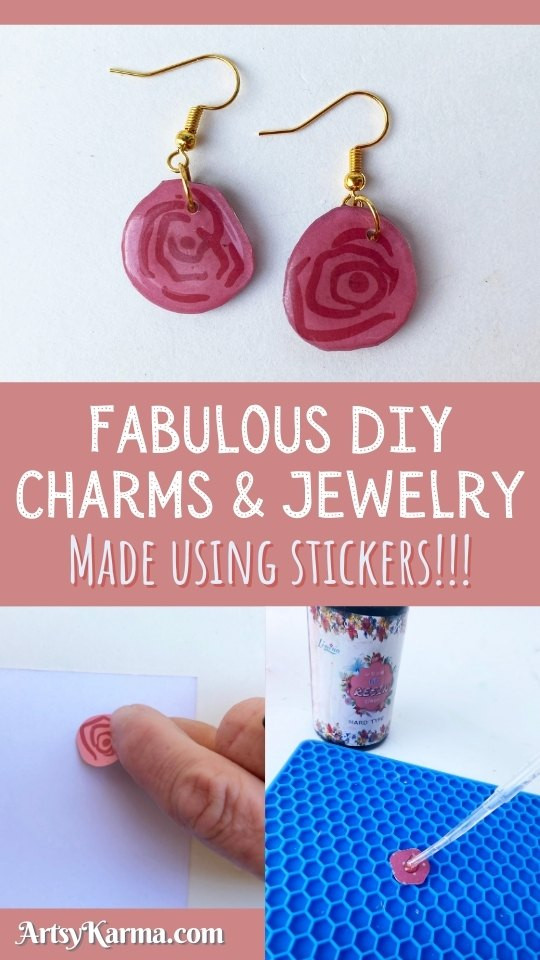 You can use stickers to make earrings! Here's how...