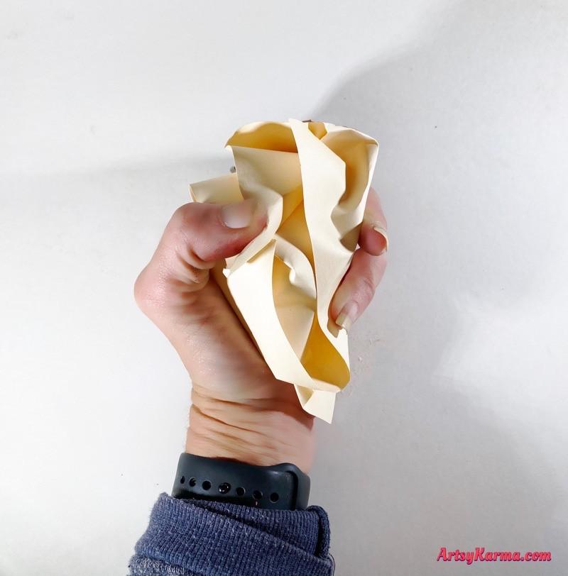 Crumpled paper technique
