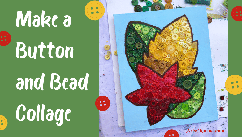 Make a button and bead collage