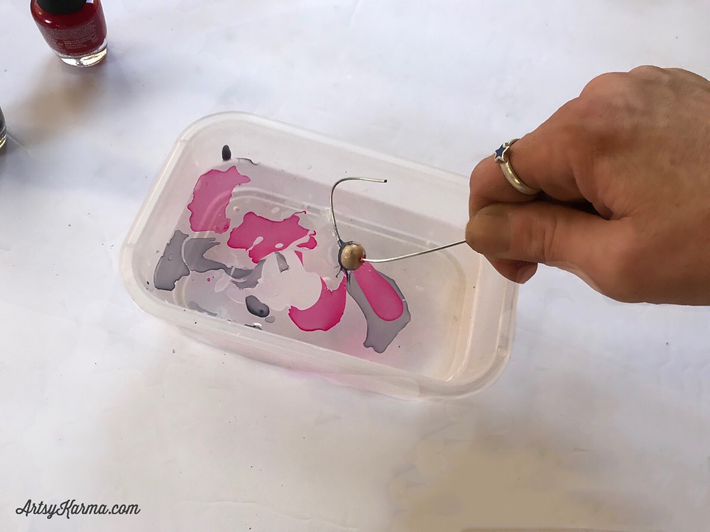 dipping for nail polish marbling