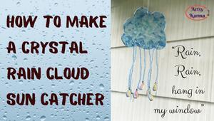 how to make a crystal rain cloud sun catcher