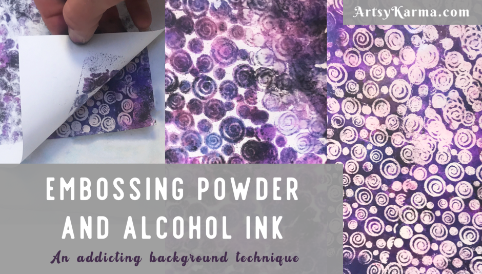 Alcohol ink background technique