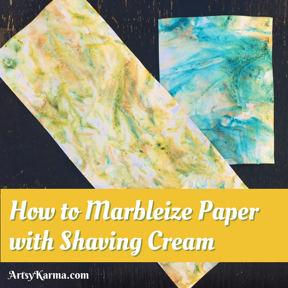 How to marbleize paper with shaving cream