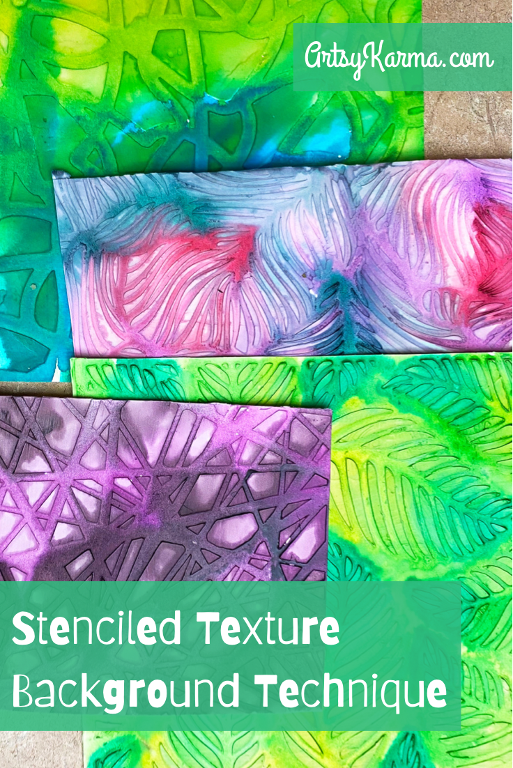 Stenciled texture background idea