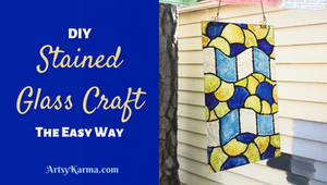 diy stained glass craft the easy way